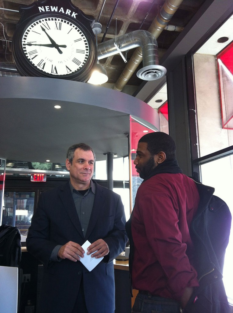 Doug Balder (l.) with Antoine Joyce